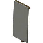 Light Gray Standing Banner<br>