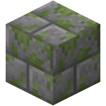 Double Mossy Stone Bricks Slab<br>