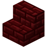Red Nether Brick Stairs<br>